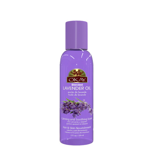Lavender Blended Oil For Hair, Scalp, & Skin- Excellent Hair Moisturizer --Treats Acne & Skin Burns-For All Hair Textures & Skin Types- Paraben Free -Made in USA 2oz / 59ml