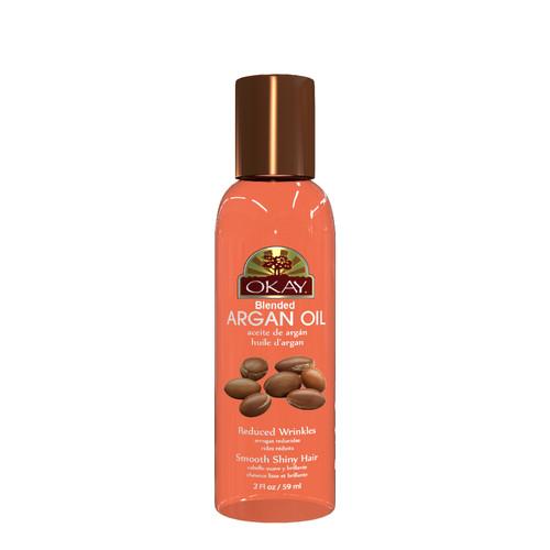 Argan Blended Oil for Hair & Skin -Restores Damaged Hair -Skin Protector & Healer-Stops Roughness Of Hair & Enhances Elasticity-Reduces Wrinkles & Softens Skin-For All Hair Textures & Skin Types-  Paraben Free -Made in USA 2oz / 59ml