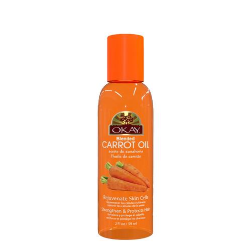 Carrot Blended Oil for Hair, Skin & Nail-Helps Nourish, Add Shine & Grow Long Vibrant Hair- Rejuvenate Skin Cells-Strengthen & Protects Hair-Moisturizes Dry Damaged Skin-For All Hair Textures & Skin Types- Paraben Free -Made in USA  2oz / 59ml