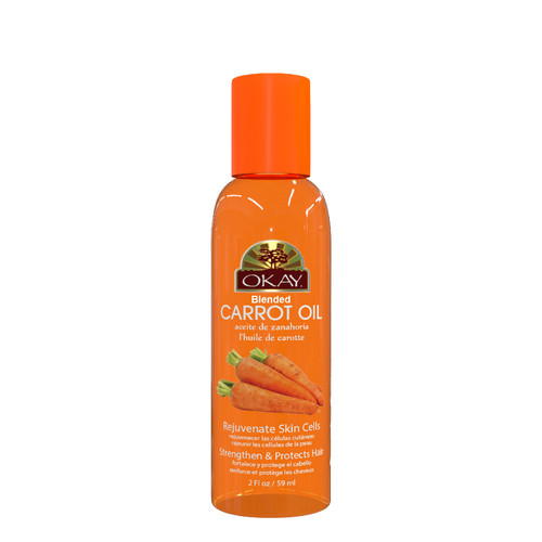 Carrot Blended Oil for Hair, Skin & Nail-Helps Nourish, Add Shine & Grow Long Vibrant Hair- Rejuvenate Skin Cells-Strengthen & Protects Hair-Moisturizes Dry Damaged Skin-For All Hair Textures & Skin Types- Paraben Free -Made in USA  2oz / 59ml
