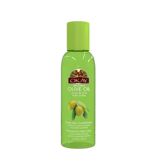 Olive Blended Oil for Hair & Skin-Nourishes, Conditions & Improves Strength Of Hair- Excellent Skin Moisturizer-For All Hair Textures & Skin Types- Paraben Free -Made in USA 2oz / 59ml