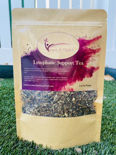 Lymphatic Support Tea - Organic Teas & Herbs Venus Power LLC | Organic Herbal Teas Yoni Steam Blends Sea Moss Detox supplements and Essentials to healing