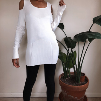 BISOU BISOU Cold Shoulder Sweater