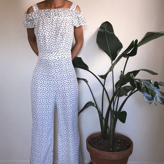 SHEIN Heart Wide Leg Jumpsuit