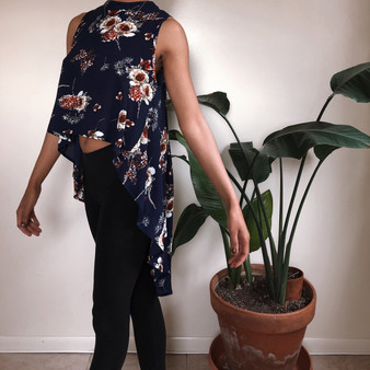 SHEIN Assymetrical Floral Blouse