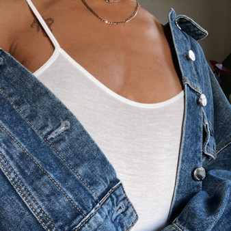 Stradivarius Crop Denim Jacket