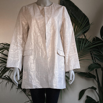 Zara Basic Collection Linen Jacket
