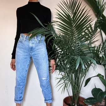 The Phoebe Vintage High Waisted Tapered Fit Jeans