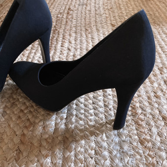 Anne Klein Square Toe Black Pump