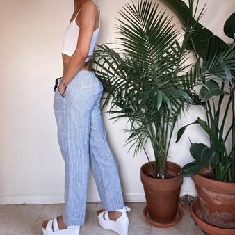 Caslon Linen Wide Leg Petite Pants