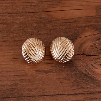 Monet Vintage Gold Tone Round Earrings