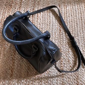 Barneys New York Leather Mini Duffle Bag