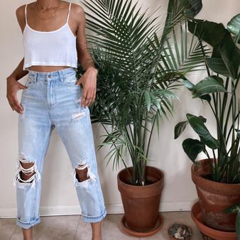 Aili Artisan Ripped Jeans