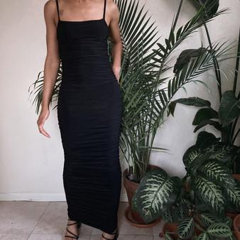 Club L Ruched Maxi Cami Dress