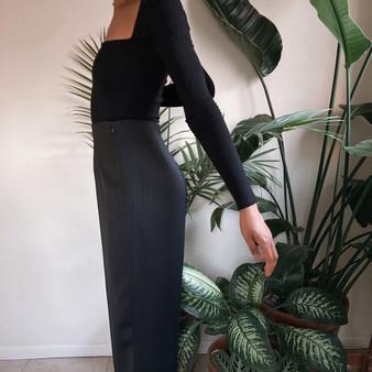 Ingenuity Black pinstripe high waist trouser
