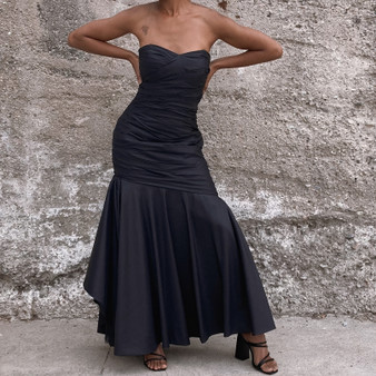 Vintage Strapless Prom Dress