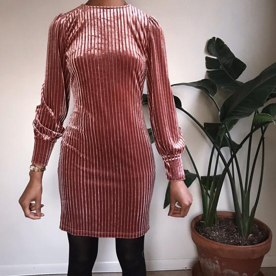 SHEIN Velvet Pinstripe Dress