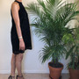 LOFT Petite Velvet Lace Black Dress