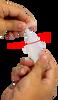 Twisting top off ReadySnap 1P Method Verification Solution