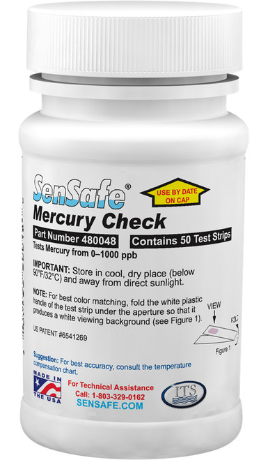 WaterWorks™ Mercury Check Test Strips Bottle