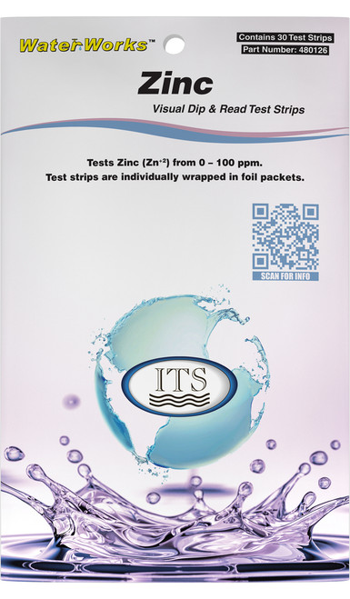 WaterWorks™ Zinc Test Strips (Pocket Pack) Front