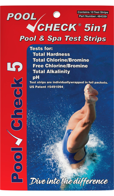Pool Check® 5in1 Test Strips (Pocket Pack) Front