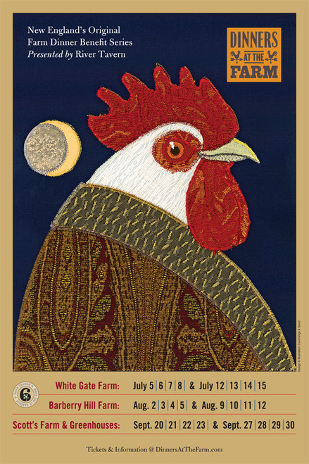 """Poster for The River Tavern's Dinners at the Farm, 2012 11""""x 17"""""""
