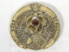 Indiana Jones, Staff of RA Headpiece, Antique Gold, Solid Metal, Amber Jewels, Display Plaque, Stand and Easel