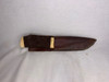 Dune, TV Mini-Series, Fremen Crysknife, Real Leather Grip and Sheath, Acrylic Display Plaque, Limited Edition