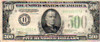 $500 Bill, Series 1934 A, United States of America Currency