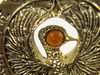 Indiana Jones RA Headpiece, Antique Gold, Solid Metal, Amber Jewel and Stand