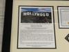 Hollywood Sign Limited Edition Piece Presentation, Framed, Full Documentation.