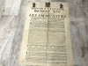Printed Broadside Circa 1754 From Pope Benedict XIV, Large, Rare, Latin and French