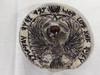 Indiana Jones, German RA Headpiece, Silver Metal, Acrylic Display Plaque