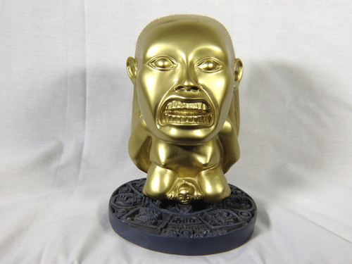 Raiders of the Lost Ark, Golden Idol of Fertility Statue, Classic Version, Solid Resin, Circular Jungle Stand, Limited Edition