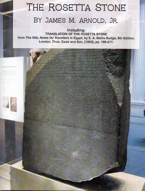 The Rosetta Stone, Full Color Book, Historical Newspaper Articles, Signed Edition