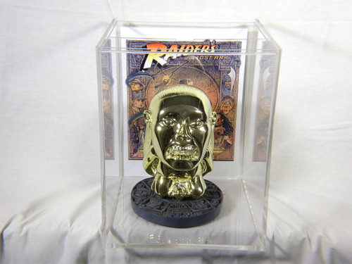 Raiders of the Lost Ark, Golden Idol of Fertility Statue, Shiny Gold Plated Version, Resin, Acrylic Case, Limited Edition