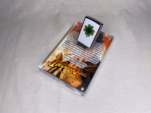 Indiana Jones, Elsa Lucky Shamrock Zippo Lighter, Acrylic Display Plaque, Jungle Easel, Numbered, Signed, Limited Edition