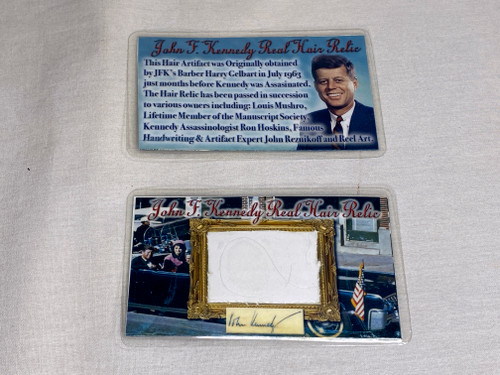 John F. Kennedy Real Hair Relic, 10 Pages of Historical Documentation