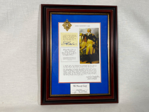 George Washington Real Hair Relic, Style A, Framed and Matted, 8 pages of Historical Documentation
