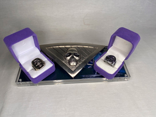 The Phantom, Skull Belt Buckle, Rings Of Good and Evil, Real Prop Replicas, Metal, Acrylic Display Plaque, Signed, Numbered, Limited Edition