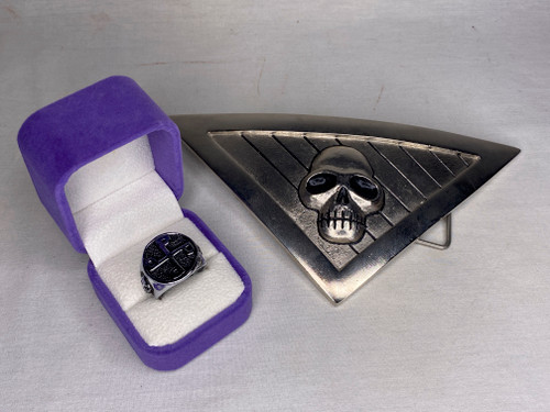 The Phantom, Skull Belt Buckle and Ring Of Good, Real Prop Replicas, Metal, Signed, Numbered, Limited Edition