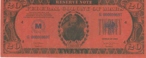 Total Recall, 20 Mars Money Real Prop Note, Arnold Schwarzenegger, Sharon Stone