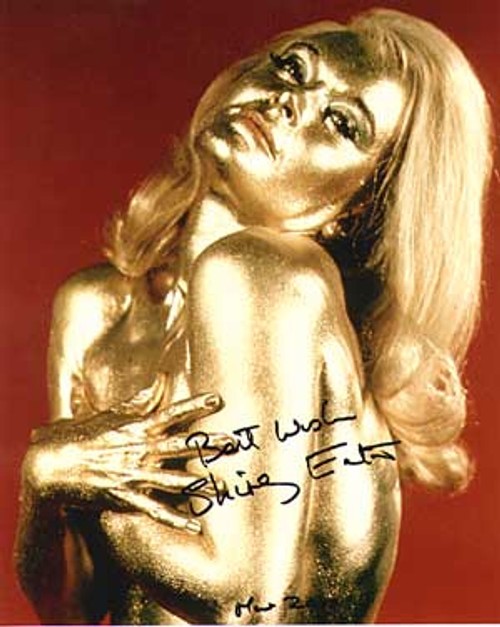 007 James Bond, Goldfinger, Shirley Eaton, Gold Girl, Autographed Photo (B)