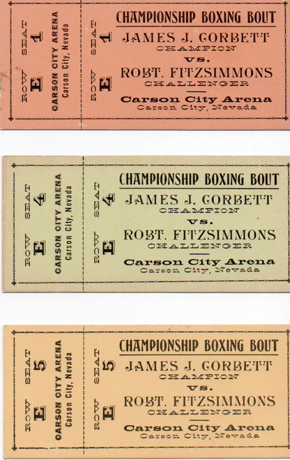 Gentleman Jim, Real Prop Boxing Ticket, Errol Flynn, Alexis Smith, Mint Condition, Authenticated by 3 Sources