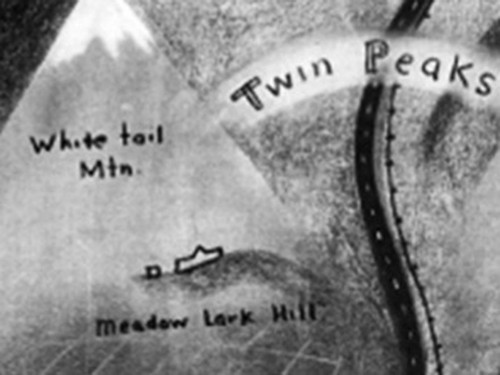 Twin Peaks TV show Map, by David Lynch, Very Detailed