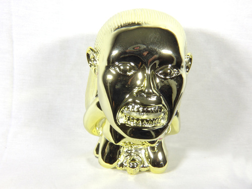 Raiders of the Lost Ark, Golden Idol of Fertility Statue, Shiny Gold Plated, Solid Resin, 2nd, Flawed Version