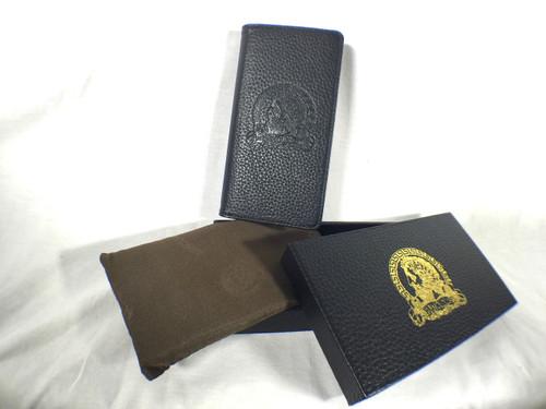 Arnoldus Premium Italian Leather Wallet Black Pebble Texture