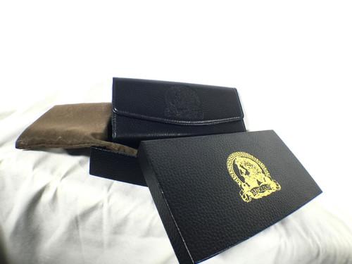Arnoldus Designer Black Pebble Textured Belt Clip Phone Case