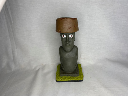 Easter Island Hat Statue, Rapa Nui, Kon Tiki, Free Book, Solid Resin, Signed, Numbered, Limited Edition